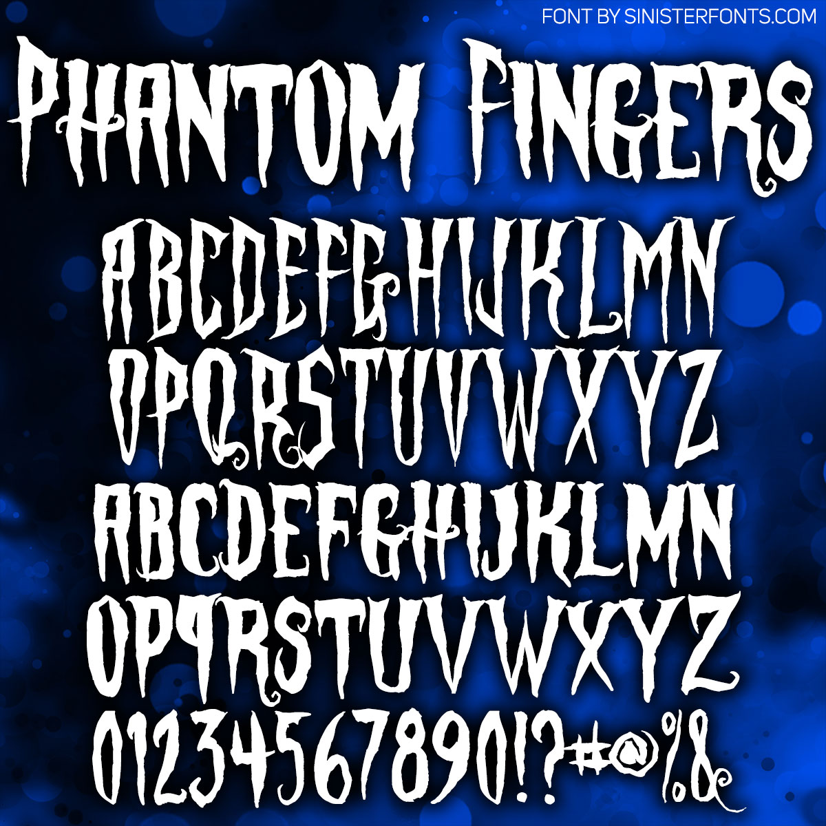Phantom Fingers Font : Click to Download