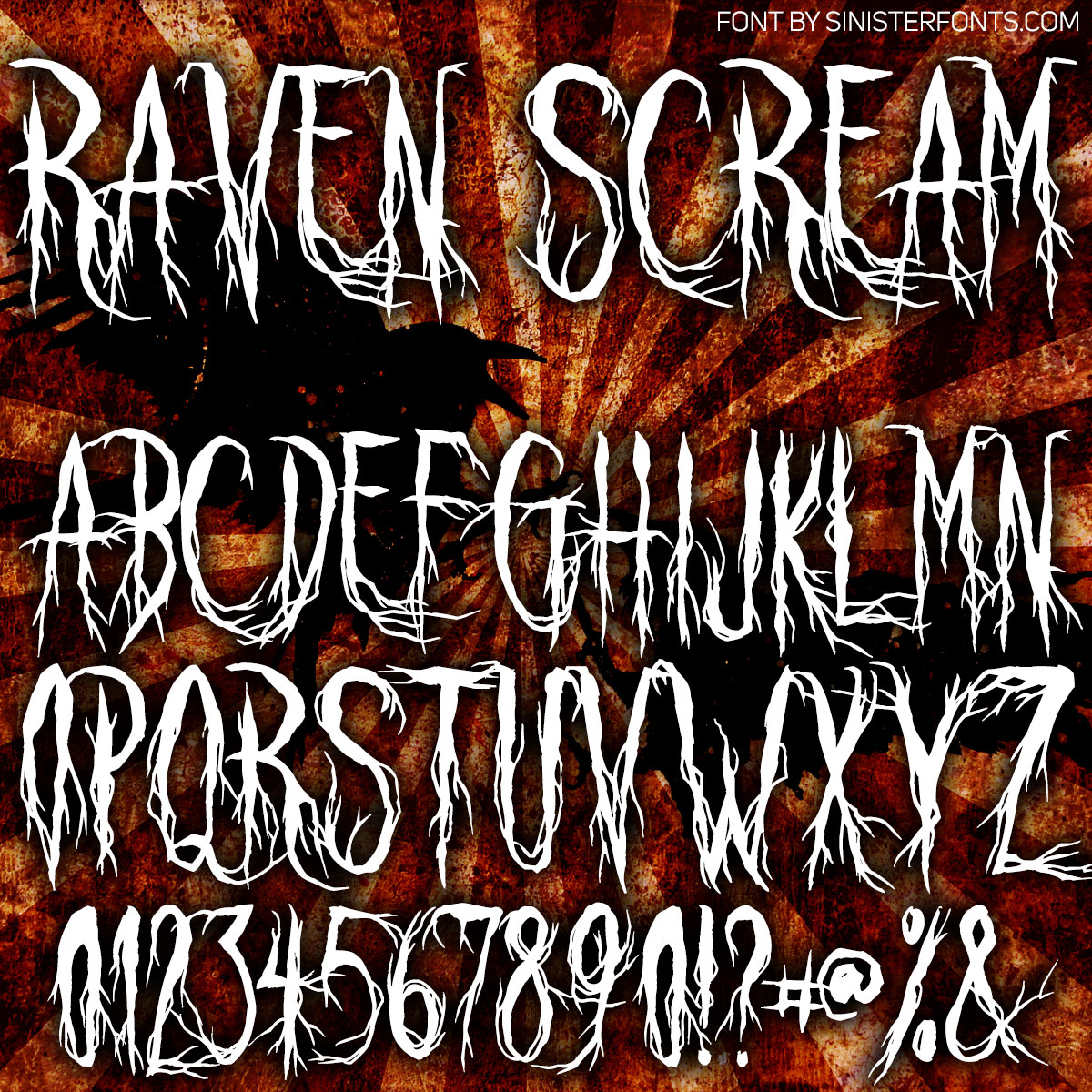 Raven Scream Font : Click to Download