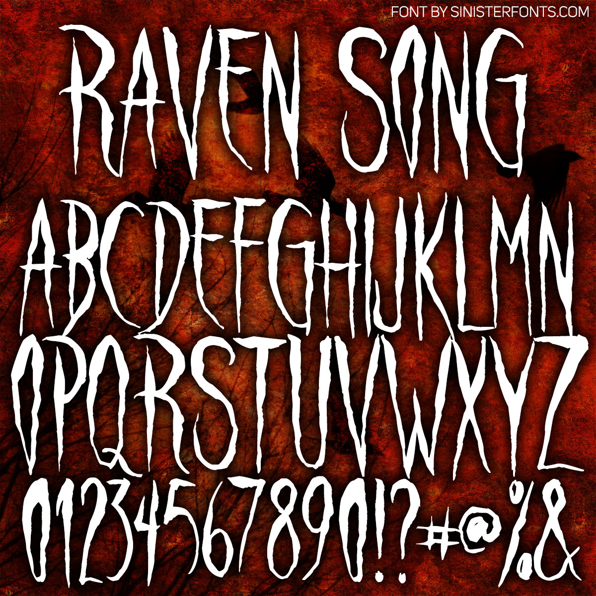 Raven Song Font : Click to Download