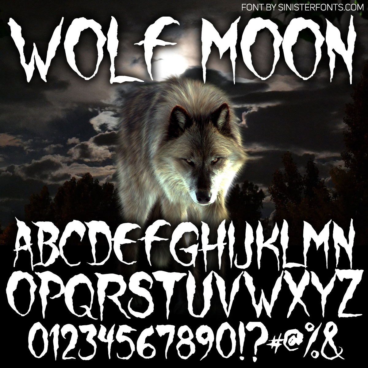 Wolf Moon Font : Click to Download