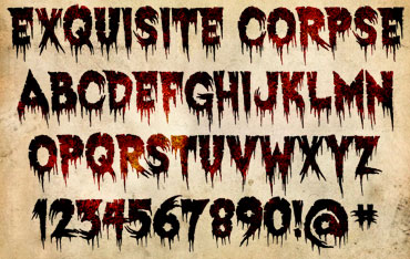 Exquisite Corpse Font : Click to Download