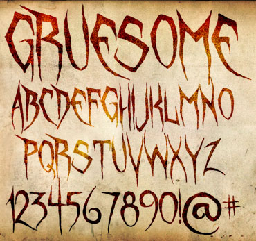 Gruesome Font