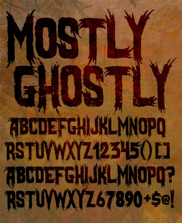 Mostly Ghostly Font : Click to Download