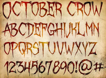 October Crow Font : Click to Download