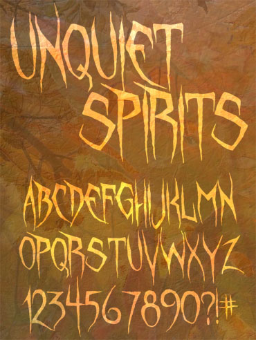 Unquiet Spirits Font : Click to Download