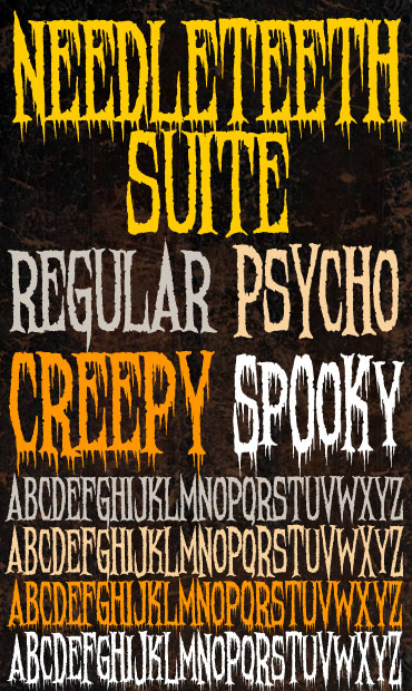 Sinister Fonts: Chad Savage's free, original horror, scary