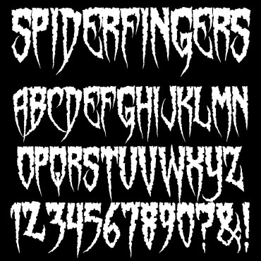 Sinister Fonts Chad Savage S Free Original Horror Scary And Halloween Fonts